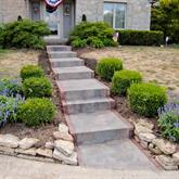 Walkway and steps
